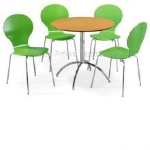 Kimberley Dining Set Natural Table & 4 Green Chairs 1/2 Price Deal